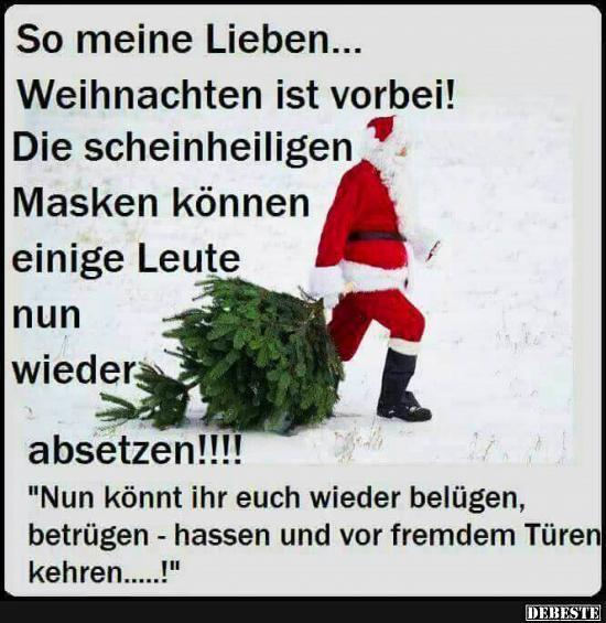 weihnachten ist vorbei sprüche