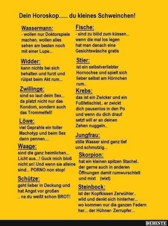 Horoskop Lustig