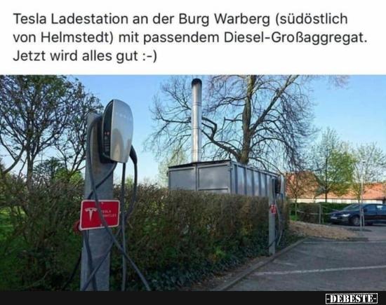 Tesla Ladestation Burg Warberg