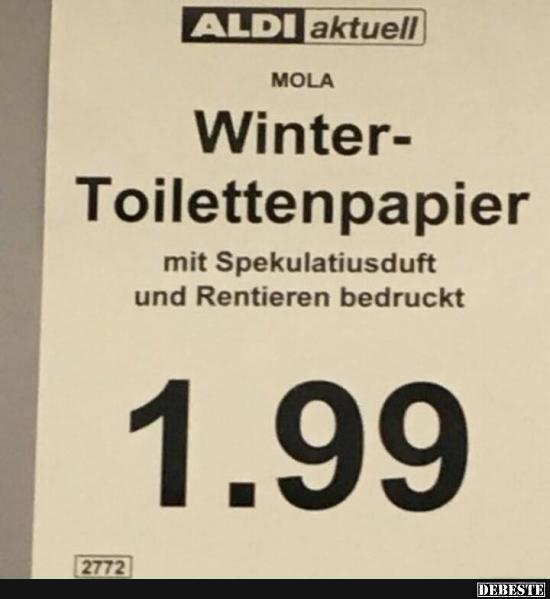 Winter Toilettenpapier. | Lustige Bilder, Sprüche, Witze, echt lustig