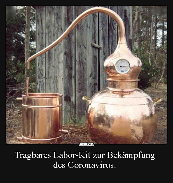 Tragbares Labor-Kit zur Bekämpfung des Coronavirus ...