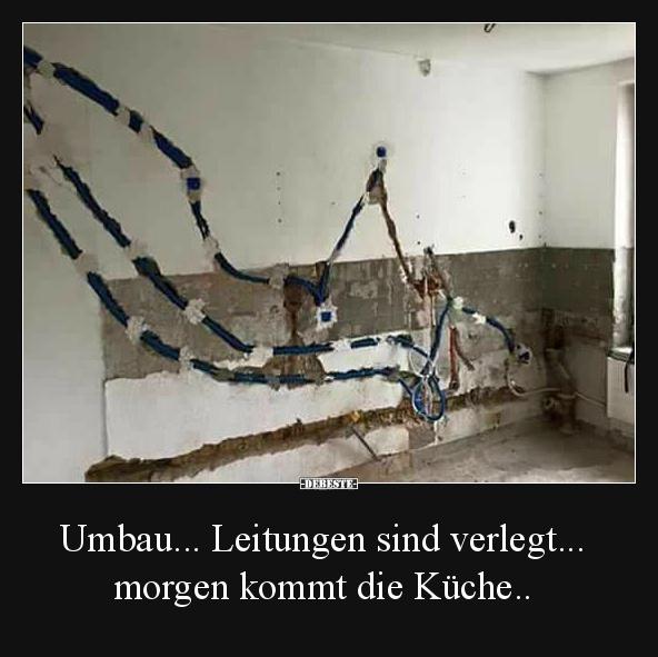 Umbau... Leitungen sind verlegt... morgen kommt die Küche ...