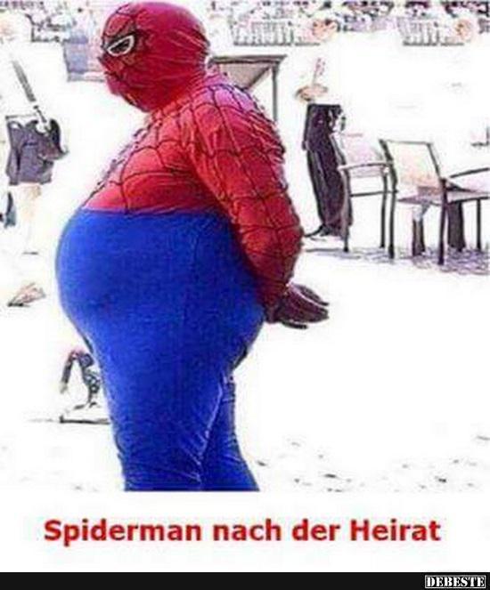 Spiderman Nach Der Heirat Lustige Bilder Sprüche Witze Echt