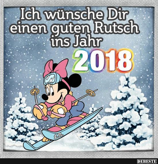 Ich wünsche Dir einen guten Rutsch ins Jahr 2018.   Lustige Bilder ...