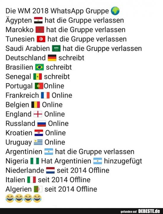 Die Wm 2018 Whatsapp Gruppe Lustige Bilder Sprüche Witze Echt