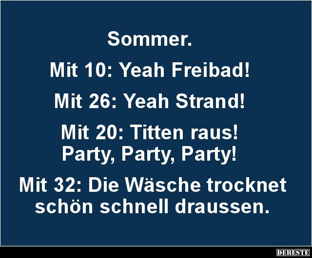 Sommer.. | Lustige Bilder, Sprüche, Witze, echt lustig
