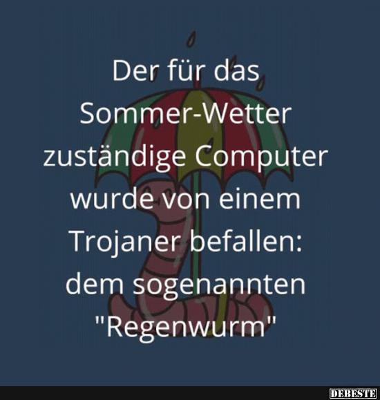 Der Fur Das Sommer Wetter Zustandige Computer Lustige Bilder