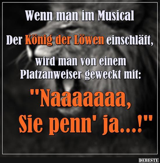 könig der löwen sprüche Wenn man im Musical Der König der Löwen einschläft.. | Lustige  könig der löwen sprüche