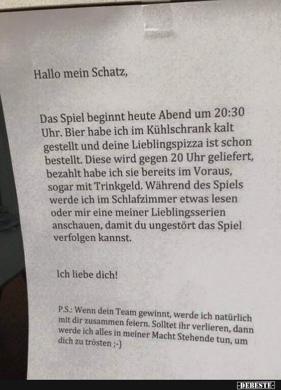 Hallo Mein Schatz Sprüche Geburtstagssprüche Für Den