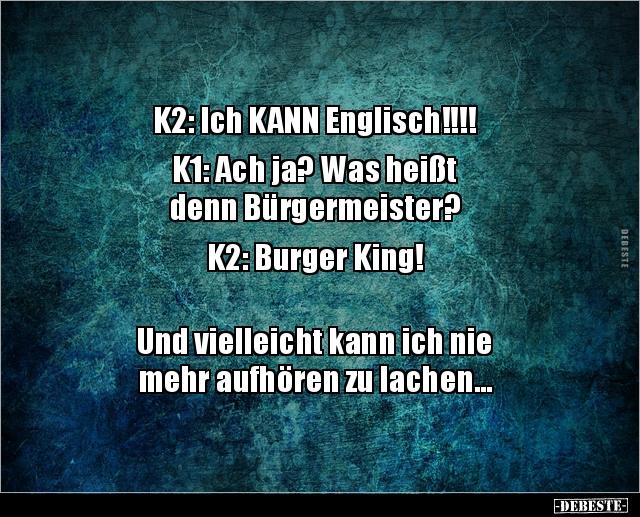 K2 Ich Kann Englisch K1 Ach Ja Was Heißt Denn Lustige