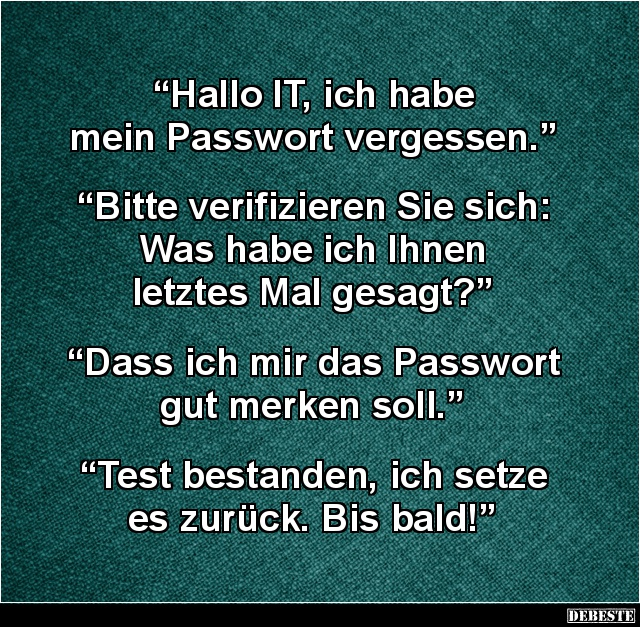 mein passwort vergessen