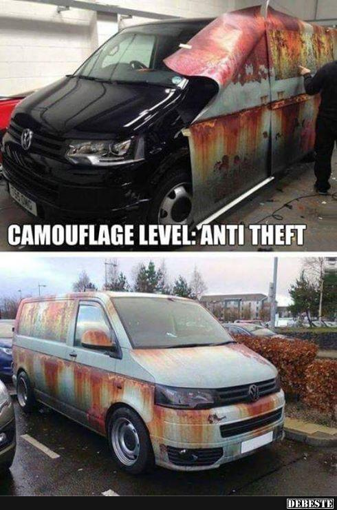 Camouflage Level Anti Dieb Lustige Bilder Sprüche