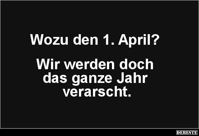 Wozu den 1. April? | Lustige Bilder, Sprüche, Witze, echt lustig