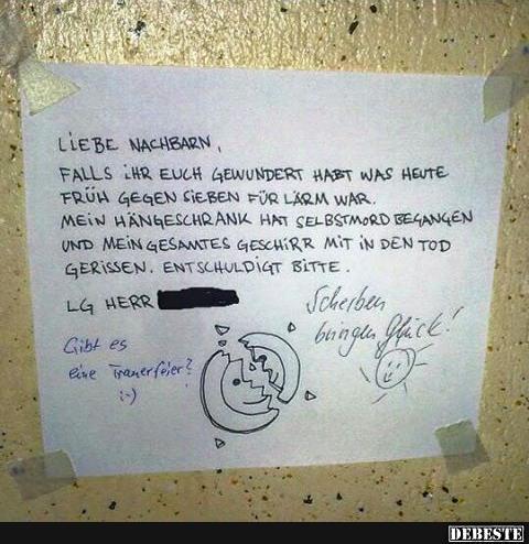 Da sieht man mal Es gibt noch Nachbarn mit Humor, ist leider nicht immer so.. | Lustige Bilder ...