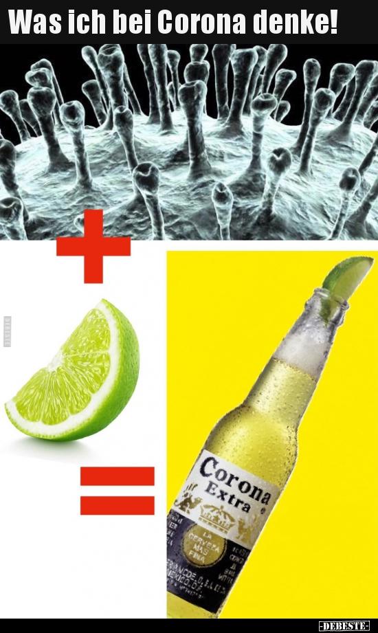 Was ich bei Corona denke!   Lustige Bilder, Sprüche, Witze ...