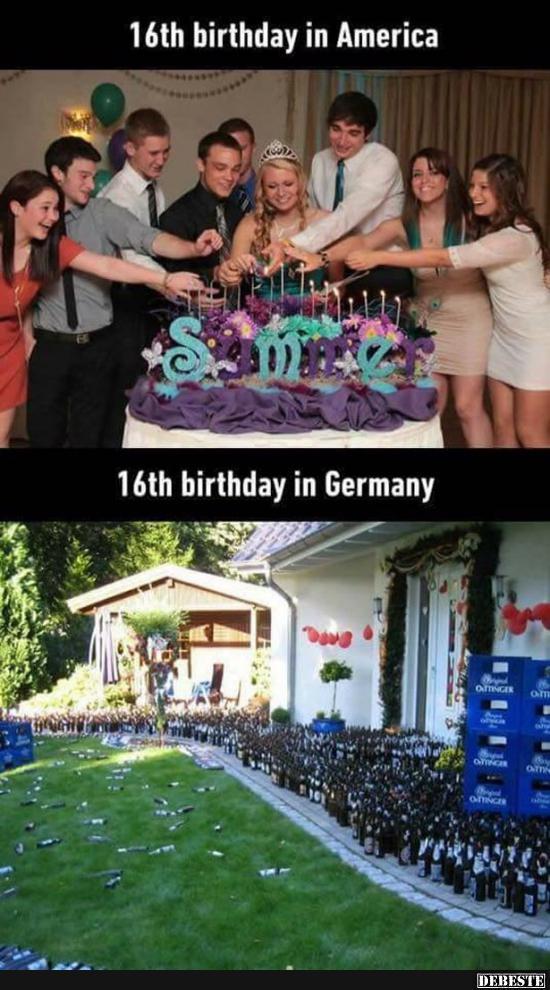16 Geburtstag In Amerika Deutschland Lustige Bilder Spruche