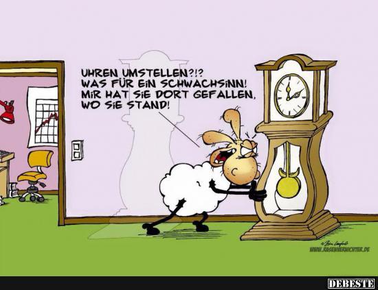 Uhren umstellen?.. | Lustige Bilder, Sprüche, Witze, echt lustig