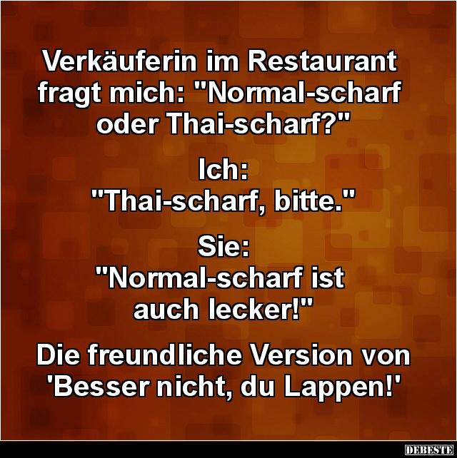 Verkauferin Im Restaurant Fragt Mich Lustige Bilder Spruche