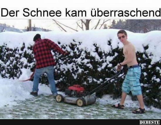 Schnee Lustige Bilder.Der Schnee Kam Uberraschend Lustige Bilder Spruche