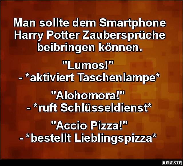 harry potter sprüche Man sollte dem Smartphone Harry Potter Zaubersprüche.. | Lustige  harry potter sprüche