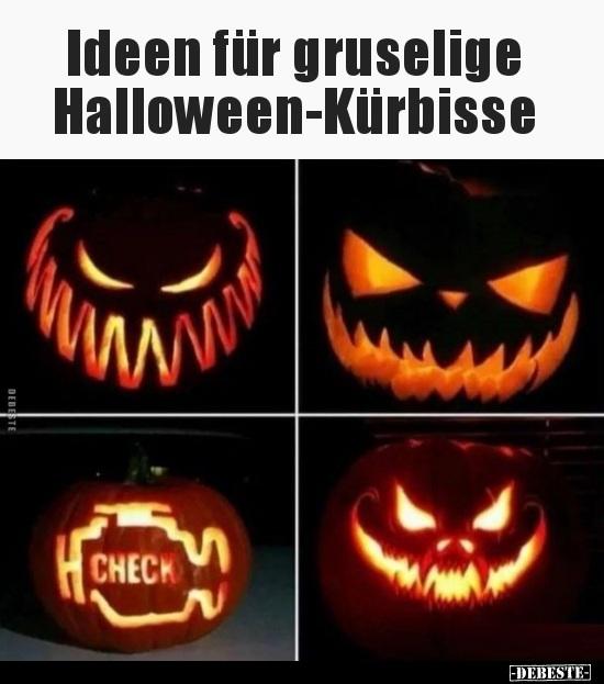 Ideen für gruselige Halloween-Kürbisse.. | Lustige Bilder ...