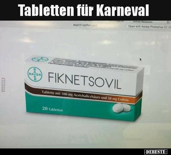 Tabletten Für Karneval Lustige Bilder Sprüche Witze