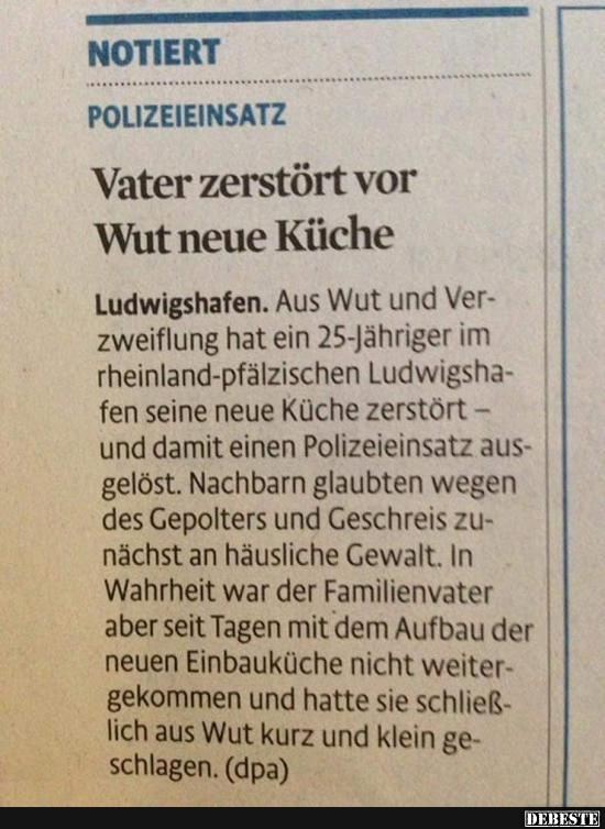 Vater Zerst Rt Vor Wut Neue K Che Lustige Bilder Spr Che Witze