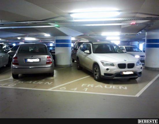 Frauenparkplatz Lustig