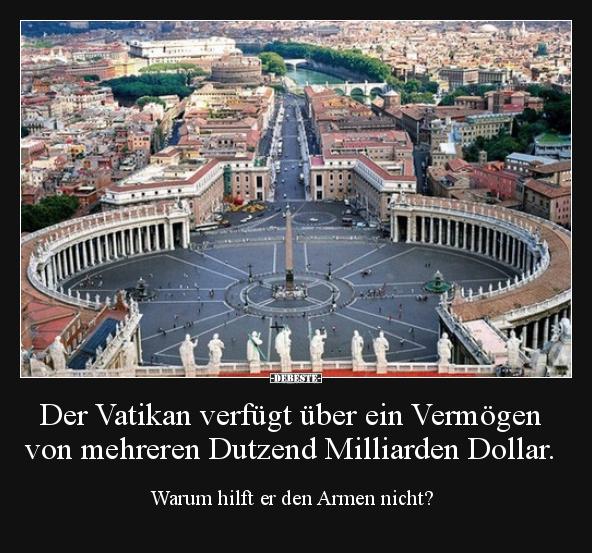 Der Vatikan verfügt über ein Vermögen von mehreren